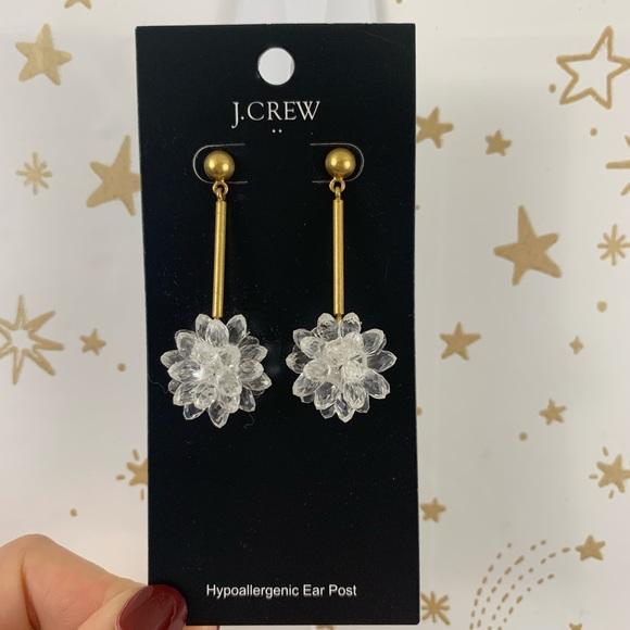 J. Crew Jewelry - J. Crew | Crystal Flower Retro Drop Earring NWT